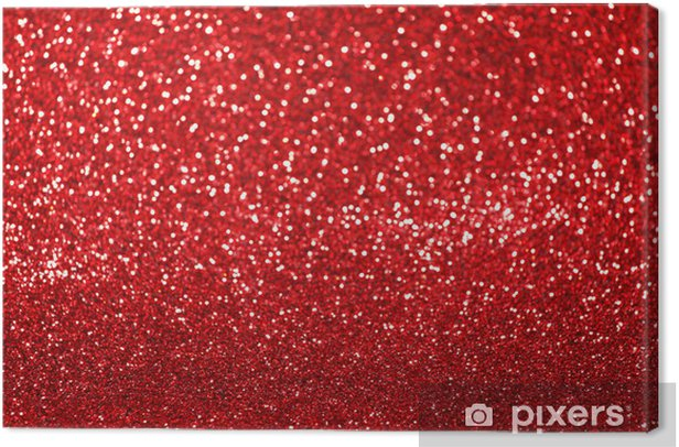 Red glitter background Canvas Print - International Celebrations