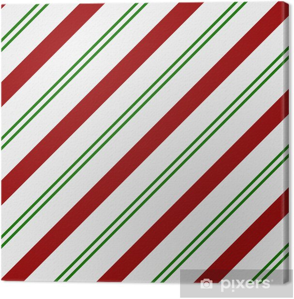 Red Green And White Striped Fabric Background Canvas Print