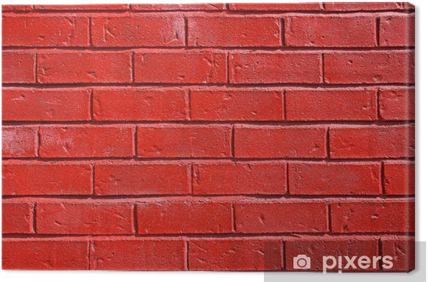 Red Painted Brick Wall Canvas Print