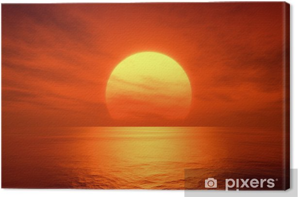 red sunset Canvas Print -