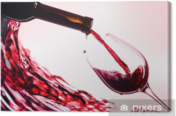 Red wine Canvas Print - Wine