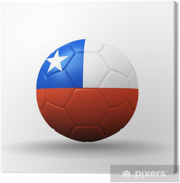 Republic of Chile flag textured on soccer ball , clipping path i Canvas Print - Fashion