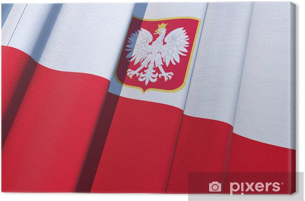 Republic of Poland Flag Canvas Print - Themes