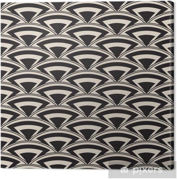 Retro antique seamless pattern in art deco style Canvas Print - Fashion
