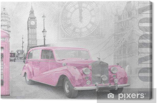 Retro auto in London Canvas Print - Styles