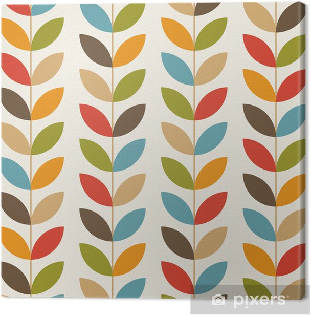 Retro flower pattern seamless background Canvas Print - Celebrations