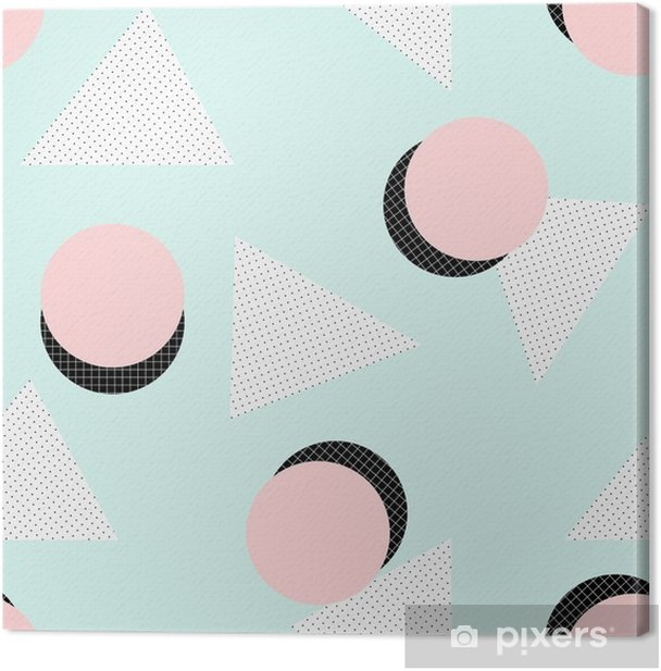 Retro Geometric Pattern Canvas Print - Graphic Resources