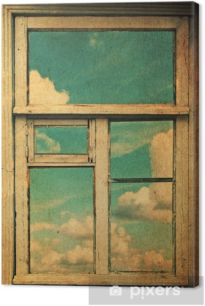 retro image with window Canvas Print - Styles