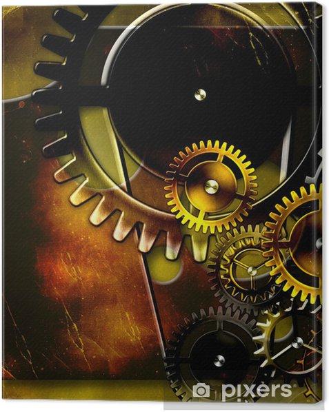 retro mechanism Canvas Print - Styles