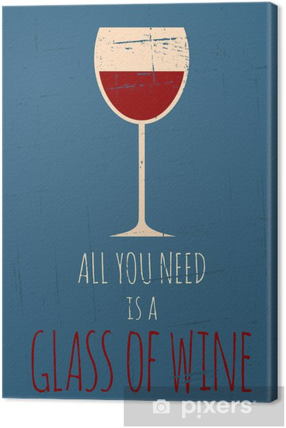 Retro Red Wine Poster Canvas Print - Themes