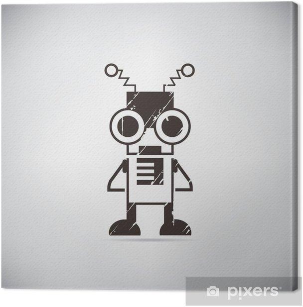 retro robot cartoon Canvas Print - Hobbies and Leisure
