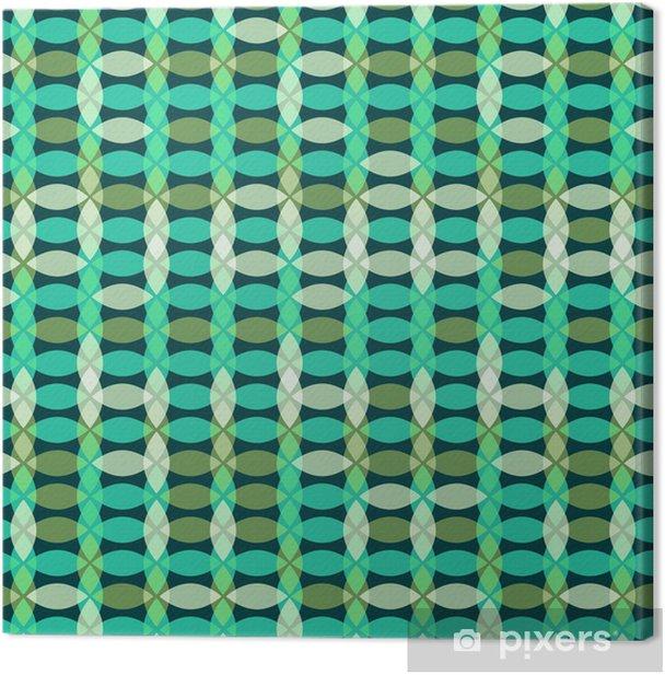 Retro seamless geometric pattern Canvas Print - Abstract