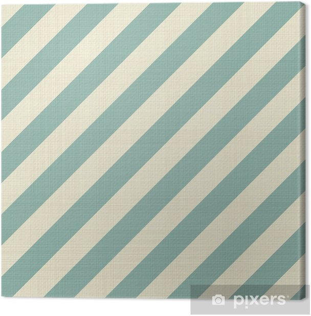 retro seamless geometric pattern Canvas Print - Backgrounds