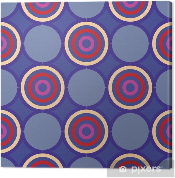 Retro seamless pattern with circles10 Canvas Print - Graphic Resources