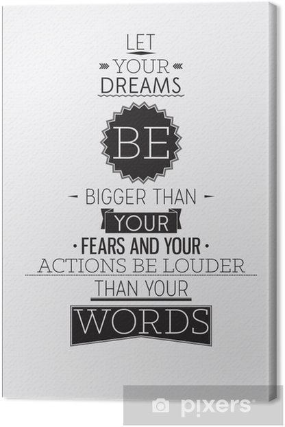 Retro style motivational poster with typography compositions Canvas Print -