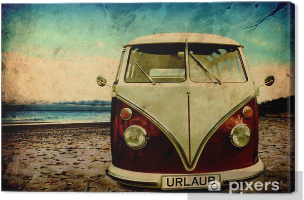 Retroplakat - Bulli Canvas Print -