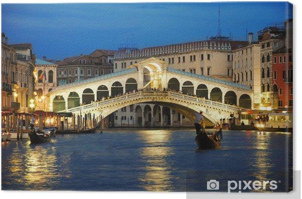 Rialto Bridge Venice Canvas Print - Themes