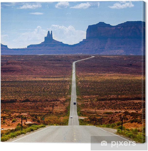 Road to the Monument Valley Canvas Print - Themes