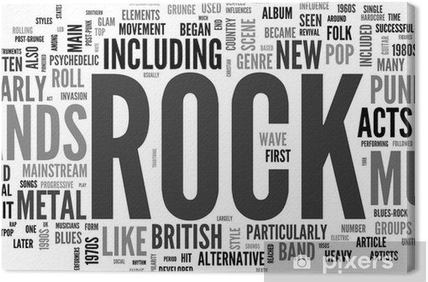 Rock and roll - Music Canvas Print - Rock