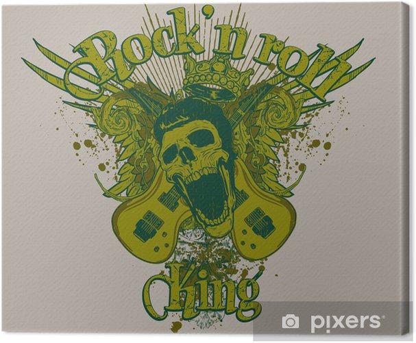 Rock'n roll king Canvas Print