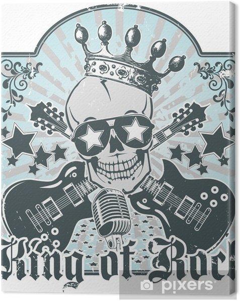 Rock n roll symbol 3 Canvas Print - Rock
