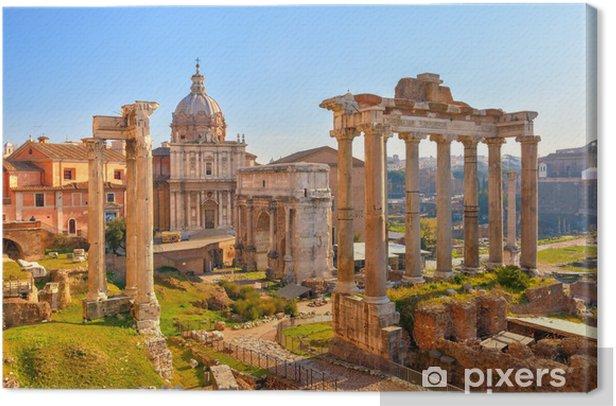 Roman ruins in Rome, Forum Canvas Print - Themes