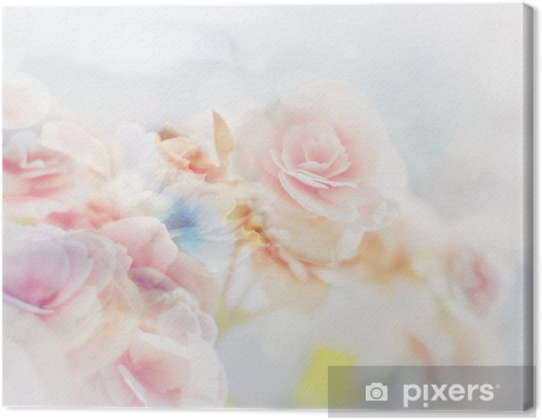 Romantic Roses in vintage style Canvas Print - Themes
