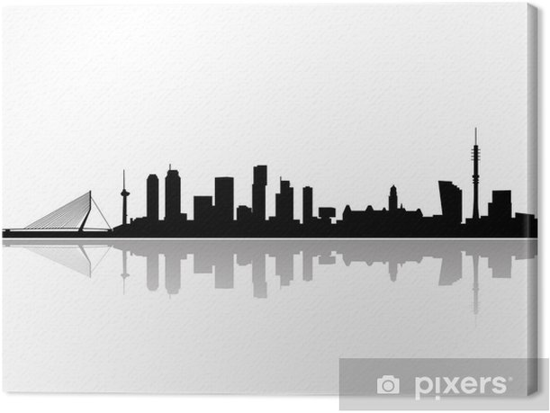 rotterdam city skyline vector Canvas Print - Wall decals