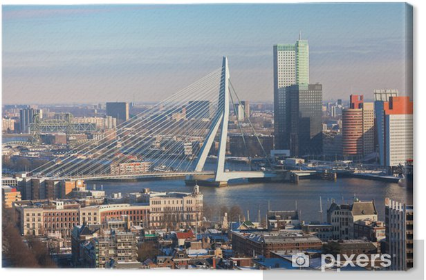 Rotterdam view from Euromast tower Canvas Print - Themes