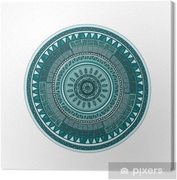 Round ornamend mandala pattern Canvas Print - Wall decals