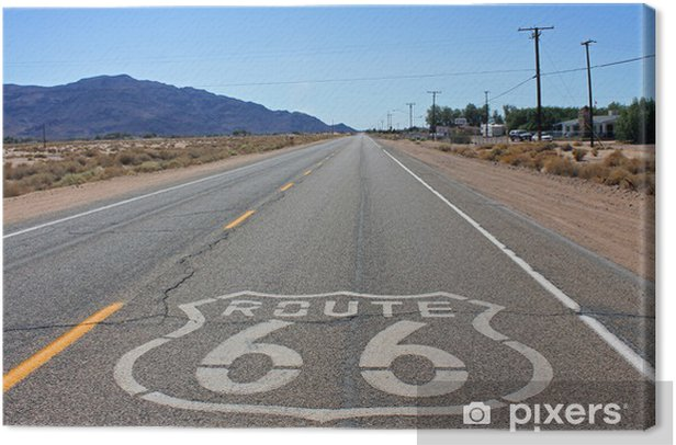 Route 66 Canvas Print - Themes