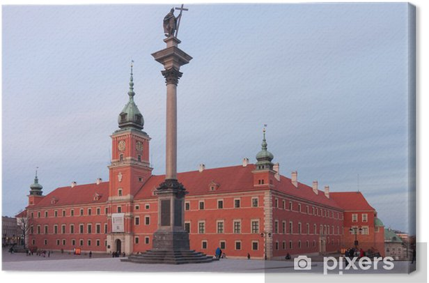 Royal Castle in Warsaw and Sigismund's Column Canvas Print - Themes