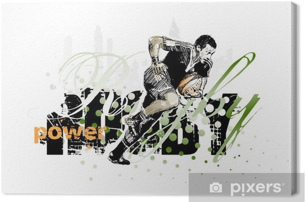 rugby 1 Canvas Print - Rugby