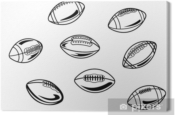 Rugby and american football balls Canvas Print - Rugby