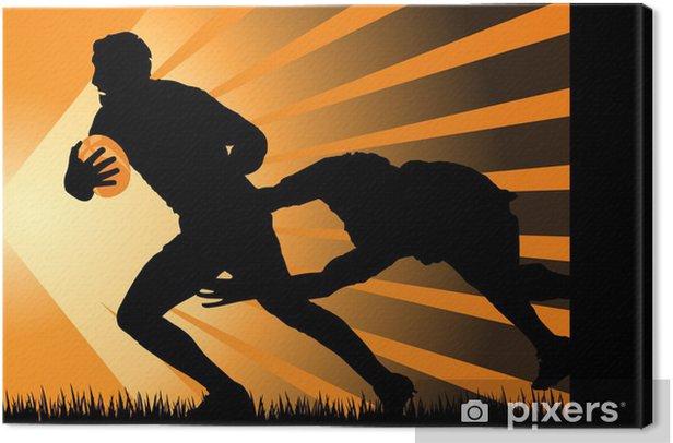 rugby, azione di gioco Canvas Print - Rugby
