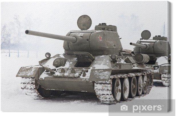 Russian Tanks T34 Canvas Print - Themes