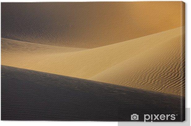 Sahara desert sand dunes. Canvas Print - Africa