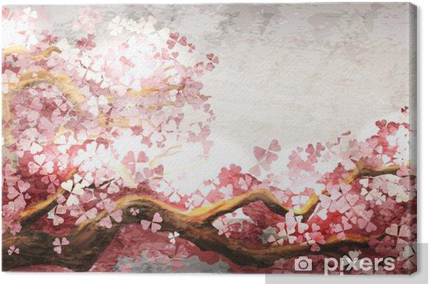 Sakura branch blooming Canvas Print -