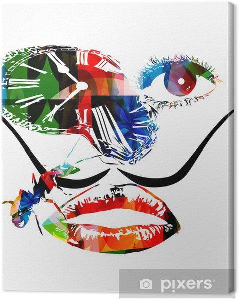 Salvador Dali inspired artwork vector Canvas Print - Abstract
