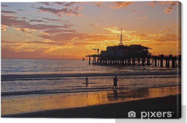 Santa Monica Canvas Print - Themes
