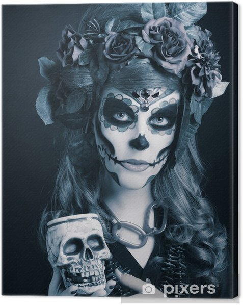 Santa Muerte. Canvas Print - Entertainment