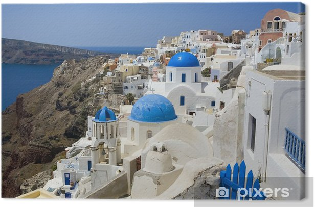 Santorini Canvas Print - Themes