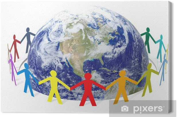 Save The World Canvas Print - People