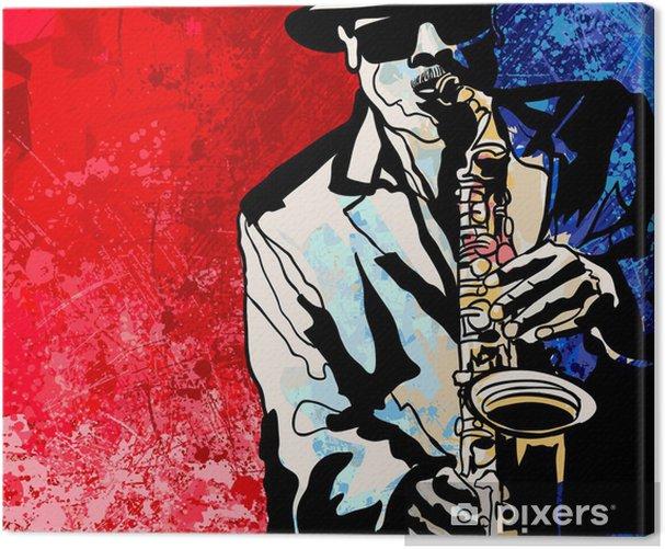 Saxophone player Canvas Print - Jazz