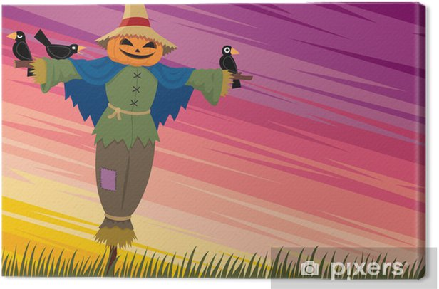 Scarecrow Background 2 Canvas Print - International Celebrations