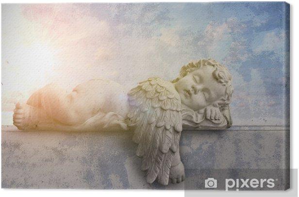 Schlafender Engel im Sonnenschein Canvas Print - Themes