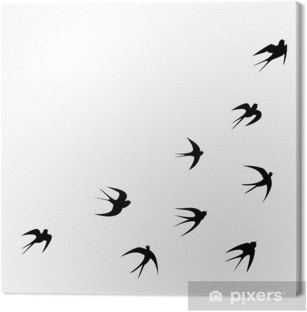 Schwalben Tattoo Vorlage Vektor Silhouette Canvas Print - Wall decals
