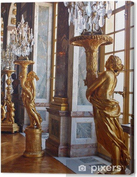 Sculptures at Versailles. Gold of Paris Canvas Print - Europe