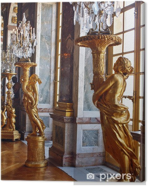 Sculptures at Versailles. Gold of Paris Canvas Print - Europe