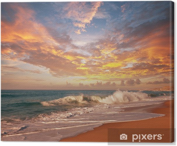 Sea sunset Canvas Print - Themes
